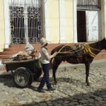 Horse carts more numerous on streets than cars.
