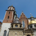 Domes of Wawel Cathedral within castle walls