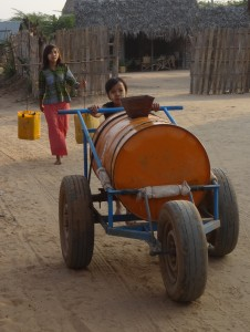 Hauling water home