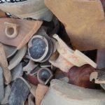 Pottery shards, a fraction of what awaits beneath the streets of Tirana